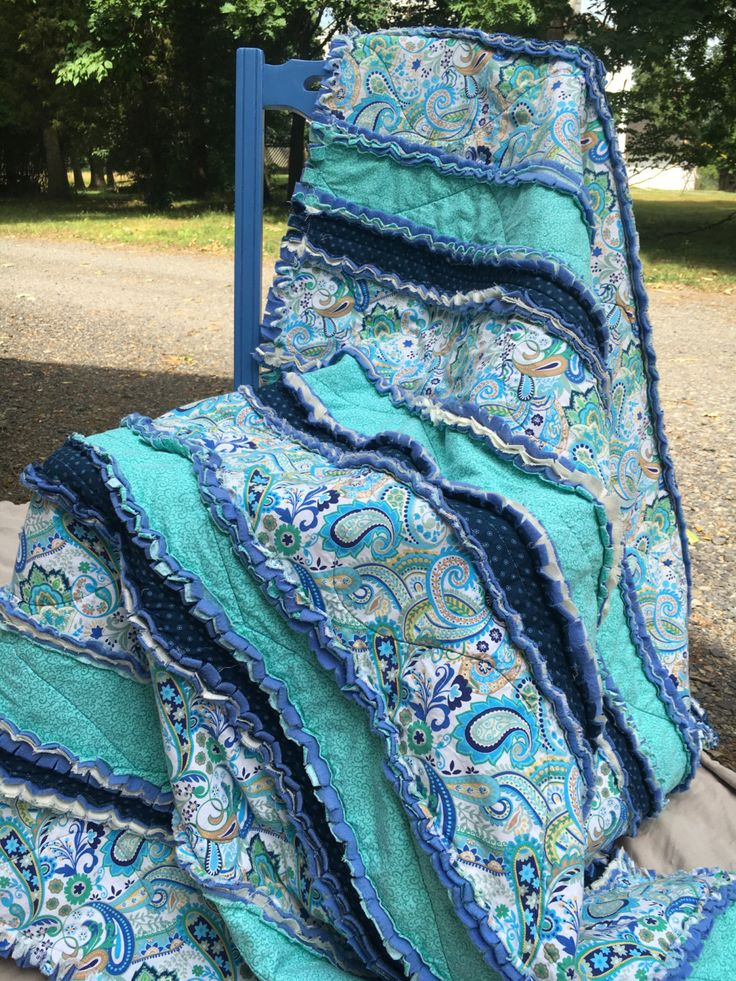 Baby Rag Strip Quilt Rag Throw Quilt Rag Quilt Twin