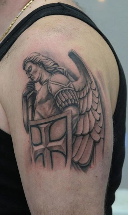 Warrior Angel Tattoos for Men | Gods Warrior Angels Tattoos Warrior angel tattoo by daniel