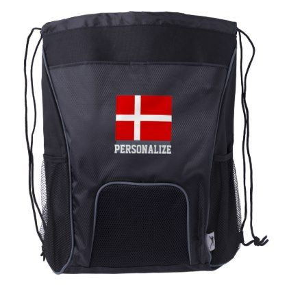 #Danish flag drawstring backpack for Denmark - #country gifts style diy gift ideas