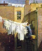 A Woman's Work  by John Sloan