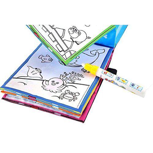 jeux éducatifs,Xinan Magie d'eau dessin Coloriage livre Doodle stylo magique animaux peinture