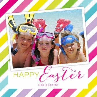 Posh Paper Colorful Easter Photo Cards