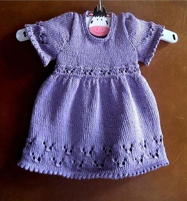 This pattern includes instructions to knit the sleeveless, short sleeved and long sleeved versions of this dress in all 6 sizes giving you amazing value for money. Take a look at the pretty matching cardigan and matching Bonnet