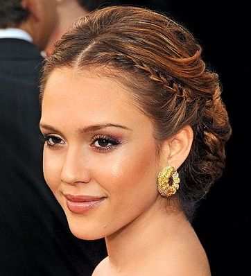 2012 Easy French Plaits Hairstyles for Long HairFrench Braids, Hair Ideas, Bridesmaid Hair, Bridal Hairstyles, Jessicaalba, Hair Style, Wedding Hairstyles, Updo, Jessica Alba