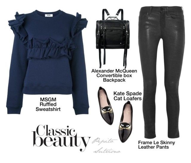 """""""casualwear by Pep.S."""" by pepito-sutrisno on Polyvore featuring MSGM, Frame Denim, Kate Spade and McQ by Alexander McQueen"""
