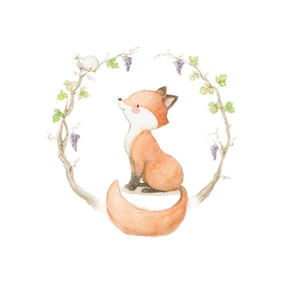 Happy Fox interior décor children wall sticker kids decal by Aida Zamora