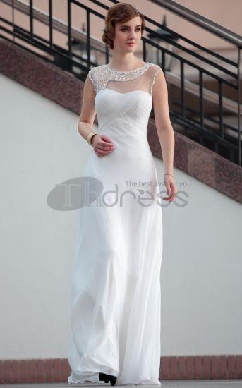 vente chaude étage longueur dentelle blanches semi-robes de soirée formelle Robe De Gala Femme