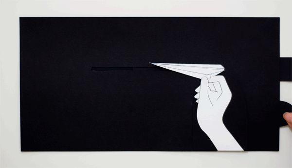 Jenny Chen réalise des illustrations en papier qui s'animent lorsqu'on pousse ou tire des languettes de papier. ( Via )