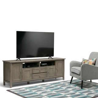 Shop for WYNDENHALL Norfolk 72 inch TV Stand for TVs up to 80 inches. Get free shipping at Overstock.com - Your Online Furniture Outlet Store! Get 5% in rewards with Club O!