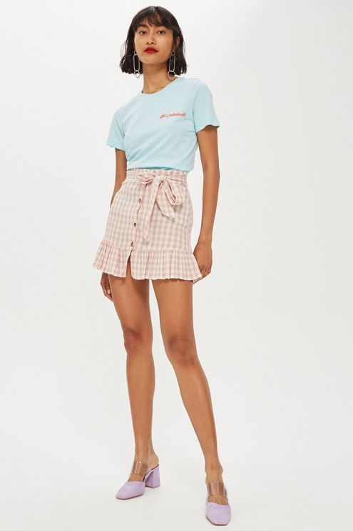 574fcdf7ad1 Rose Gingham Mini Skirt in 2019 | clothe yourself | Mini skirts ...