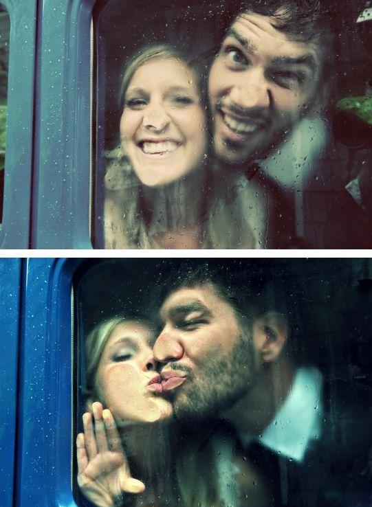 Ce couple qui a sorti ses plus belles grimaces : | 24 photos sublimes de mariage sous la pluie