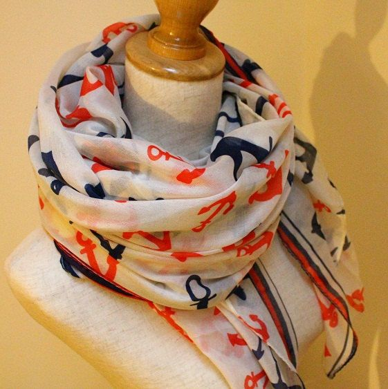 Sale Anchor Scarf Classic Anchor Scarf Red by dailyaccessoriez, $17.99