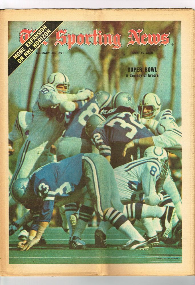 1971 january 30 : the sporting news magazine/newspaper super bowl colts cowboys from $6.0