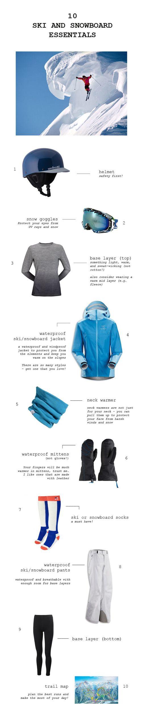 10 ski and snowboard essentials