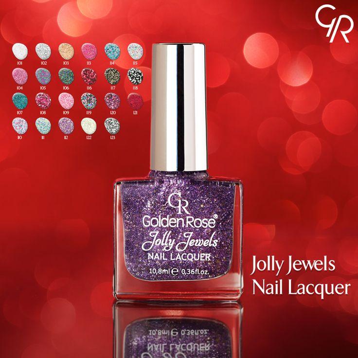 Jolly Jewels, 23 harika rengi ile yıldızlar kadar parlak ve göz alıcı tırnaklar yaratır. http://www.goldenrosestore.com.tr/jolly-jewels-nail-lacquer.html