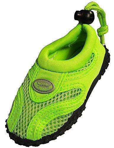 The Wave - Little Boys' Aqua Shoe, Lime 37113-7MUSToddler