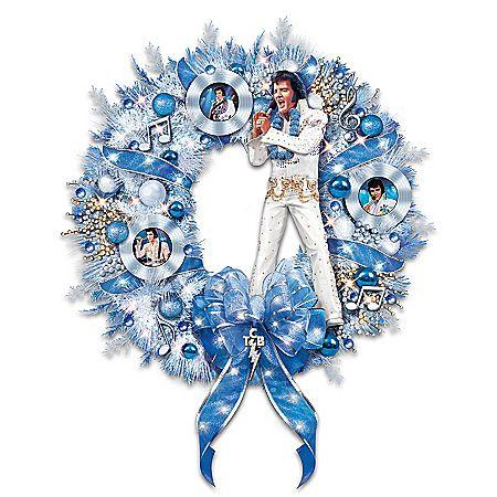 It's A True Blue Christmas Wreath