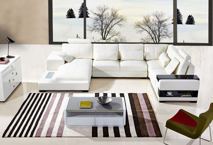 Divani Casa Diamond Modern Bonded White Leather Sectional Sofa VGYIT285-3Finishing: Bonded LeatherColor:WhiteSKU: 16041Dimensions:1 Seater w/ End Table: W50