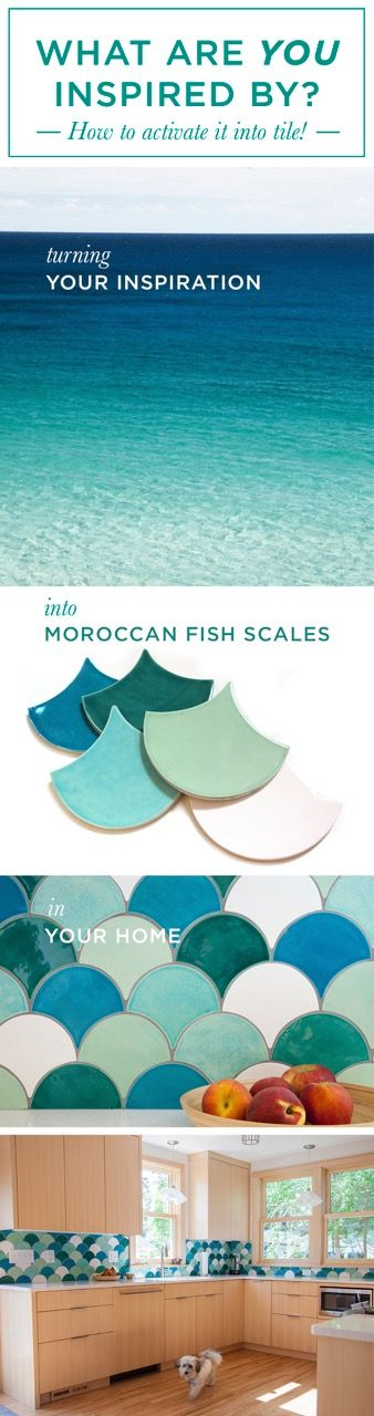 Clear water and Moroccan fish scale tiles
