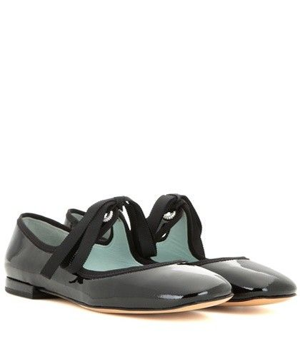 EMBELLISHED PATENT LEATHER BALLERINAS MARC JACOBS