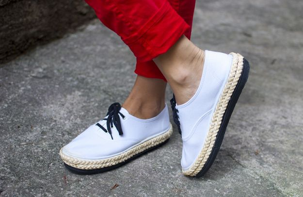 Turn a pair of Keds into platform espadrille sneakers. | 47 DIYs For The Cash-Strapped Music Festival-Goer