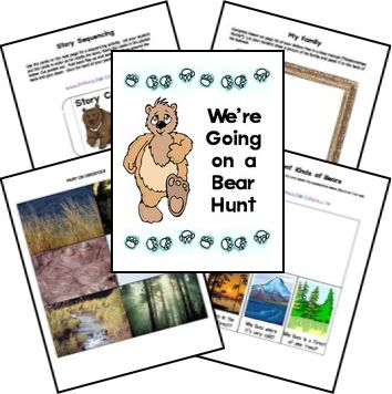 Free for kids: We're Going On A Bear Hunt Lapbook