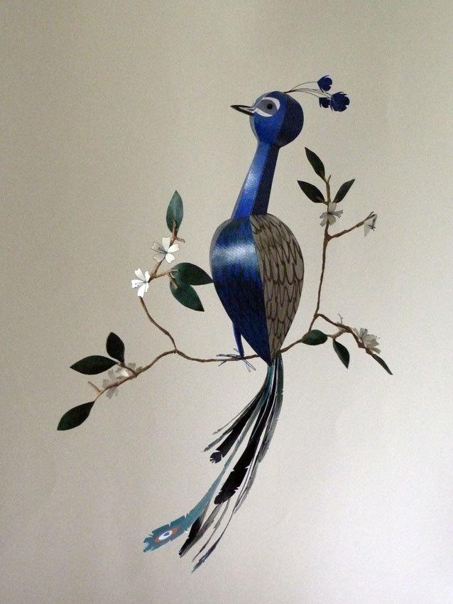 how to make a bird sculpture