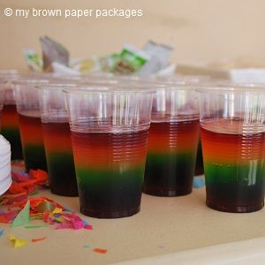 Rainbow Jelly Cups, kids party food