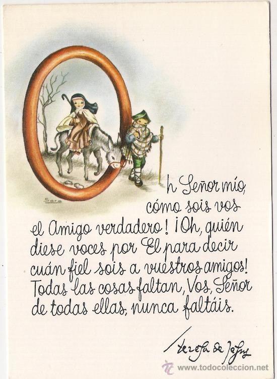 -48456 POSTAL DIBUJO SANTA TERESA DE JESUS, ILUSTRACION SARA, CON MENSAJE (Postales - Dibujos y Caricaturas)