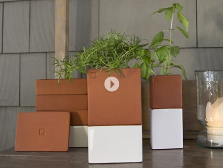 Cult Design; Kitchen Farming; starting $39.95  Self-watering containers make it easy to grow your own herbs and sprouts right in your kitchen.