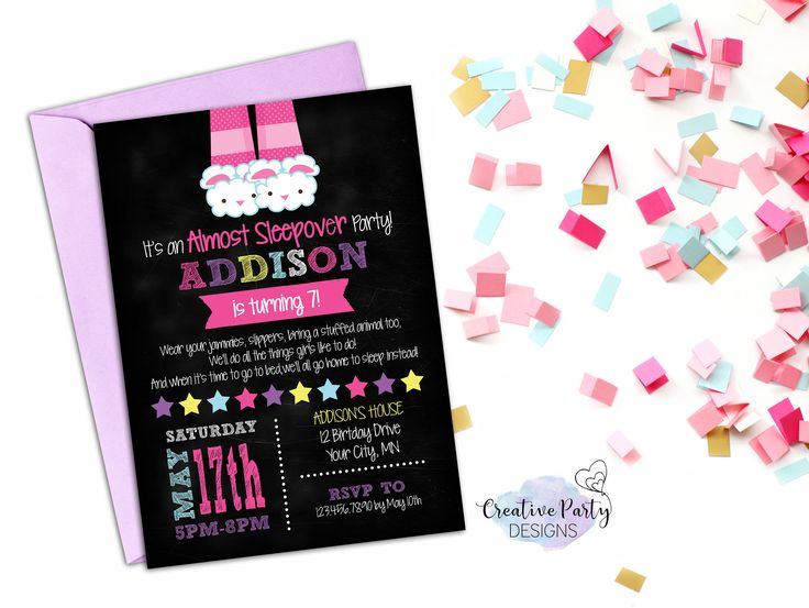 1000+ ideas about slumber party invitations on pinterest | 12th, Party invitations