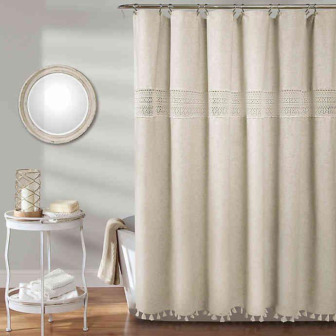 Delilah Lace Shower Curtain Lace Shower Curtains Curtains Rustic Shower Curtains