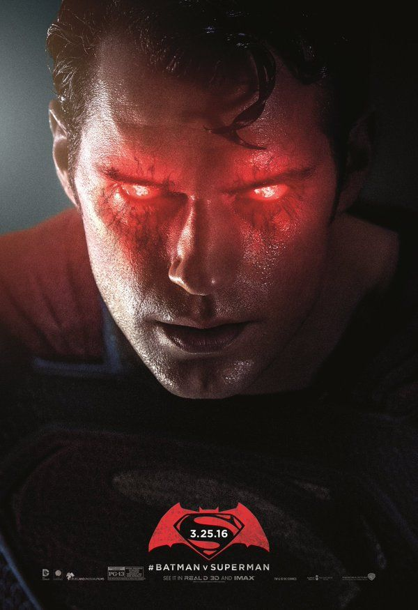 Batman Vs Superman | Cartazes rejeitados mostram Homem de Aço assustador