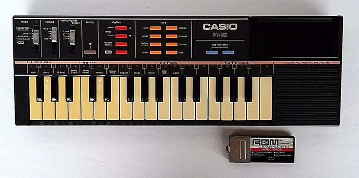 Vintage Keyboard Sythesizer Retro Synth CASIO PT-82 Electric Piano ROM Pack 80's #Casio