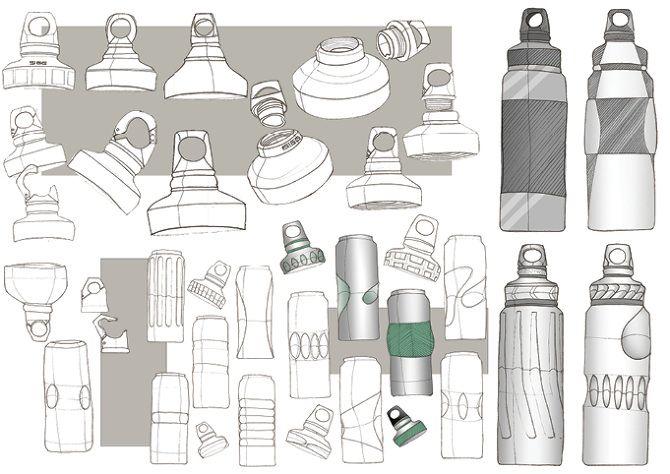 water bottle sketch - Google Search