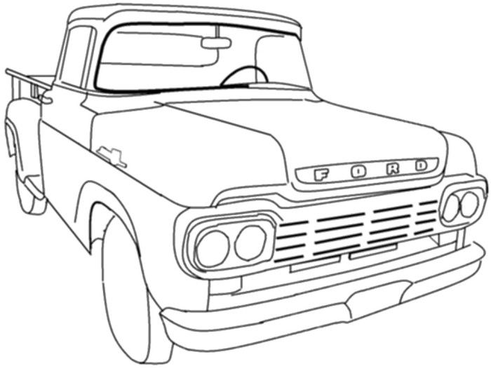 28 best f150s images on pinterest ford trucks car drawings and cars 1970 Chevelle Convertible Project Car ford truck classic coloring page