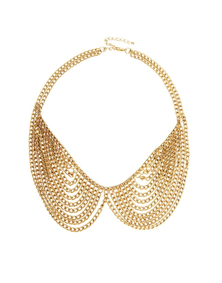 Multi Chain Rounded Collar Peter Pan Necklace $23.00 | Free USA Shipping