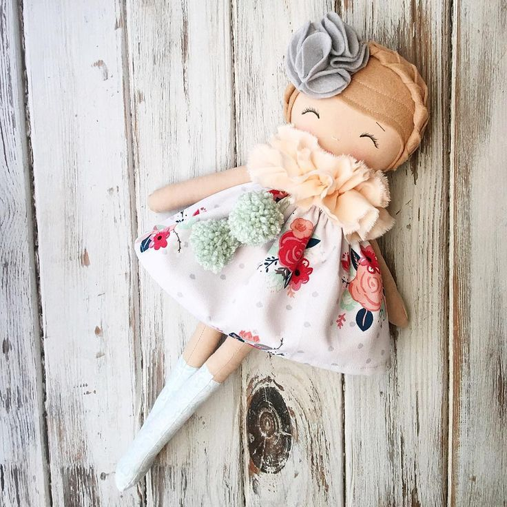 Another sweet lil custom order finished and sent out today ❤ #customorder #clothdoll #dollmaker #handmadedoll #spuncandydolls