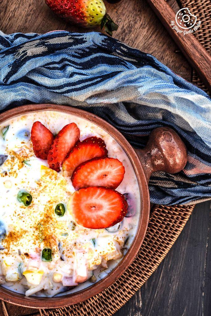FRIED GRAM FLOUR PUFFS AND FRUITS-VEGGIES DIP  #indianfood #vegetarian #foodstyle #dips #sidedish #nomnomnom #raita #glutenfree  #govegan #whatsveganeat #foodie #foodfood #goodgfood #foodporn