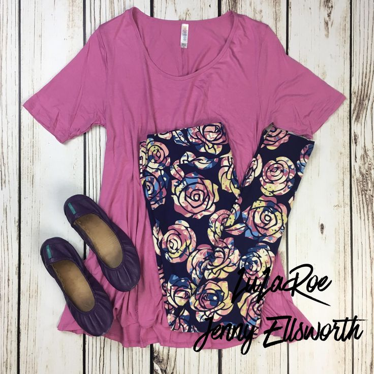 LuLaRoe Perfect T with Leggings and Tieks. Join my shopping group to shop my outfits! www.facebook.com/groups/LuLaRoeJenny/