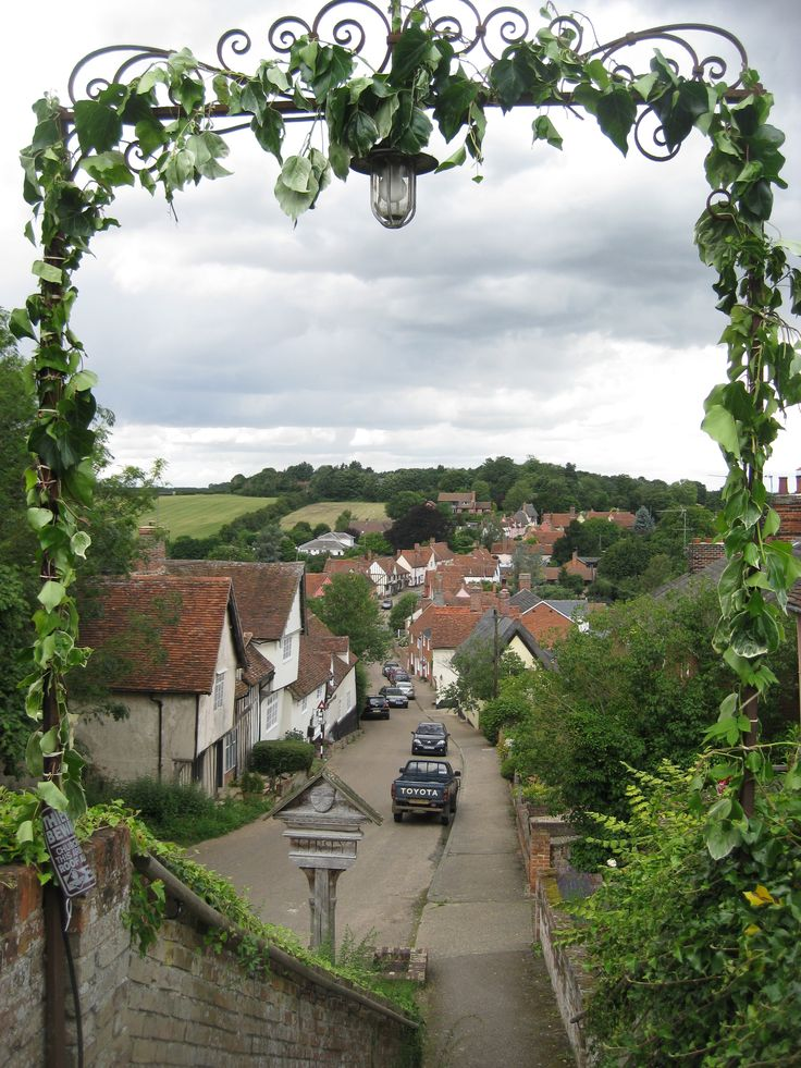 Kersey in Suffolk, England, taken from the 12th century church of St Mary's