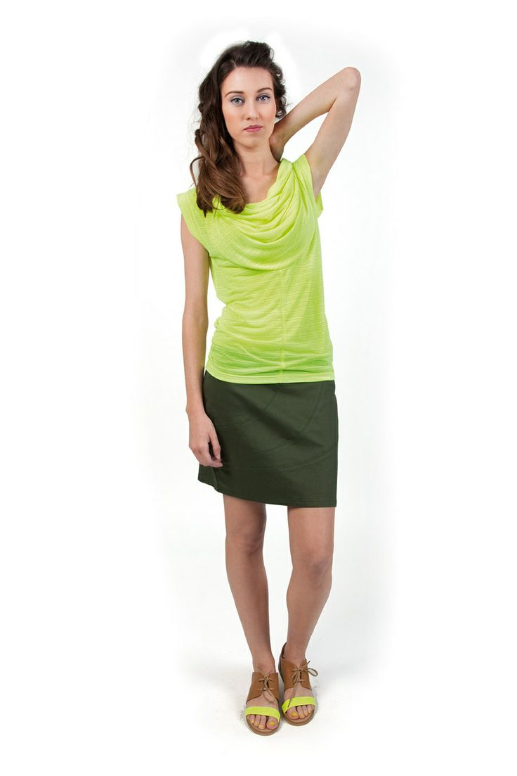 PENNY-096 SKUNKFUNK women's t-shirt fabric content: 100% polyester color: yellow price: $59.00