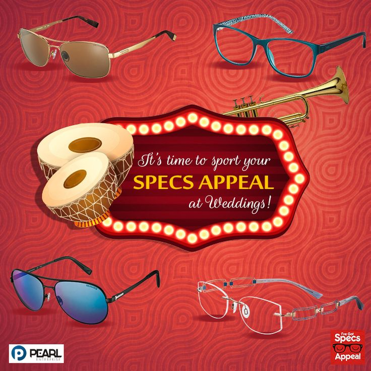 It's #December, the month of weddings! Add sparkle to your #wedding #outfit and stand out with some shining #SpecsAppeal!