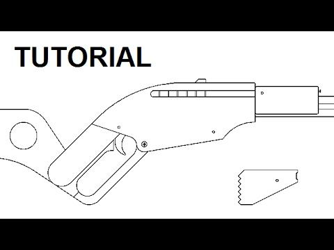 Clip ejecting rubber band gun — $6 plans and tutorial