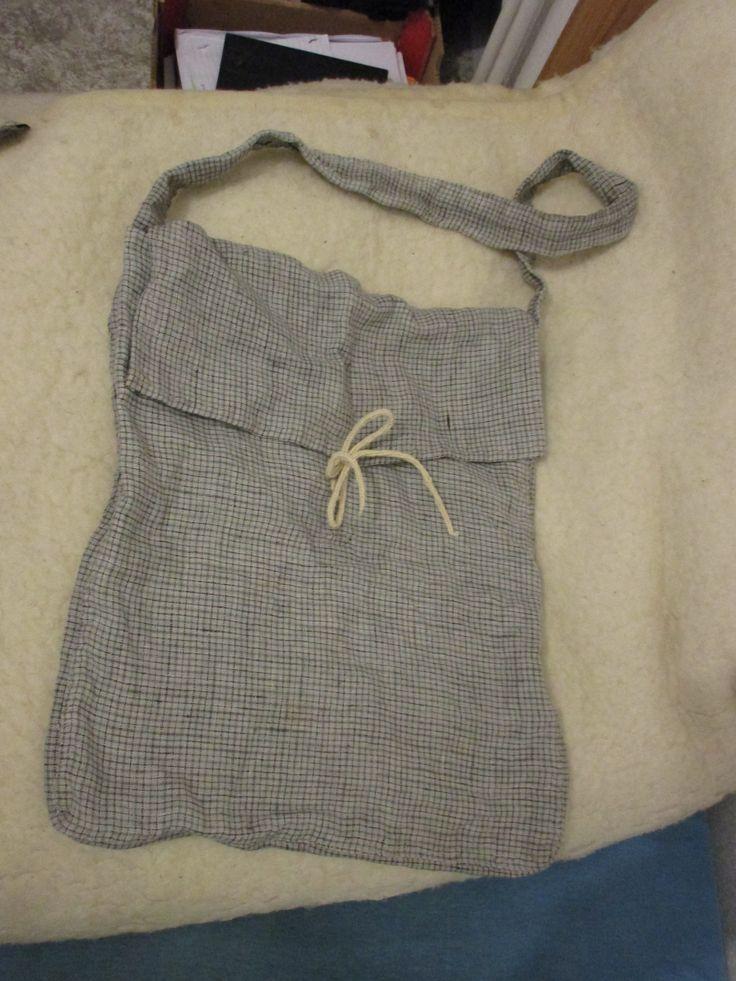 medieval linen bag