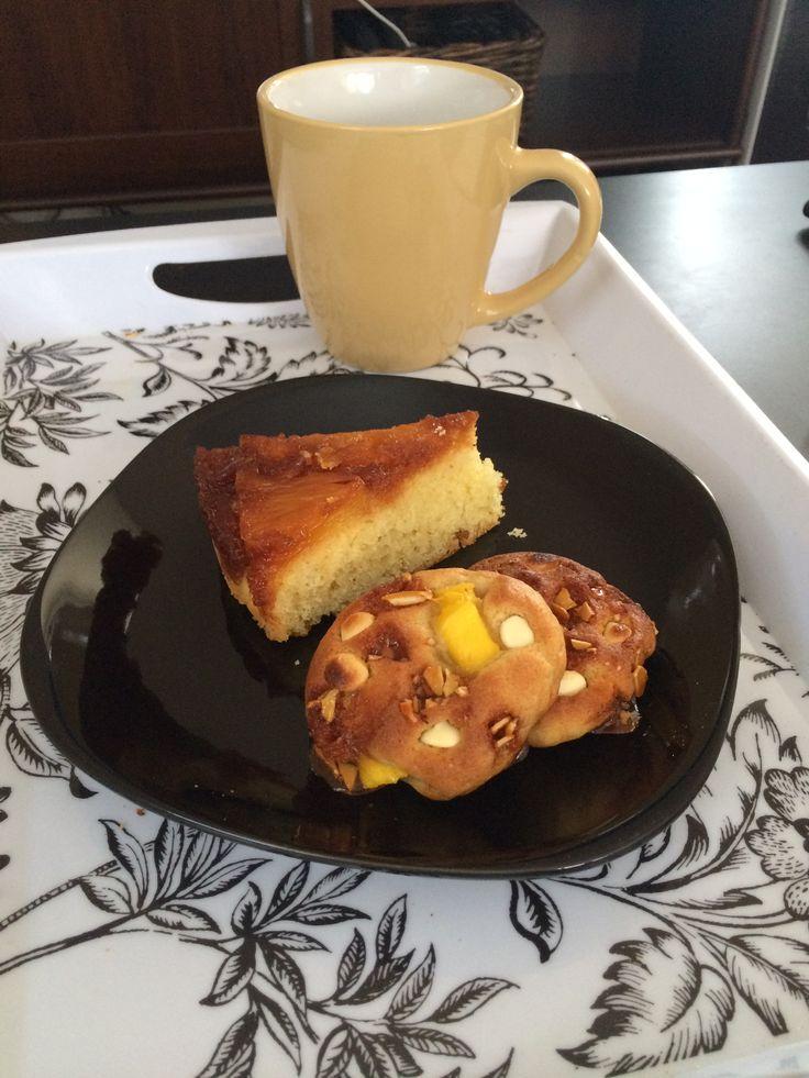 Tea time  Cookie nougatine mangue chocolat blanc Et Tatin moelleuse a l'Ananas