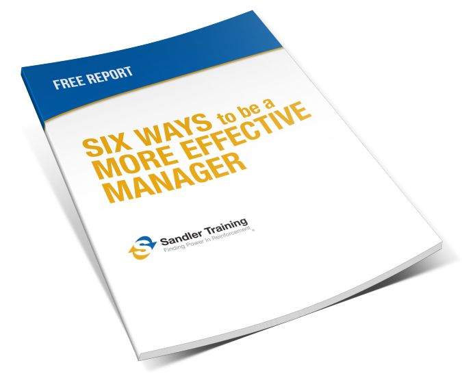 In this free report, you will learn…      Ways to improve your performance to be a better manager, mentor, and motivator     To adapt your behavior to turn roadblocks into building blocks     How to delegate responsibilities to your salespeople and provide guidance when needed