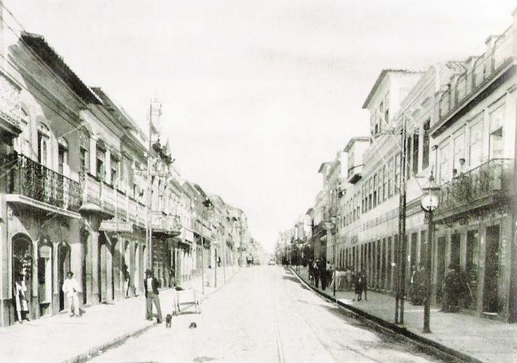 Rua dos Andradas (rua da Praia) em 1911.