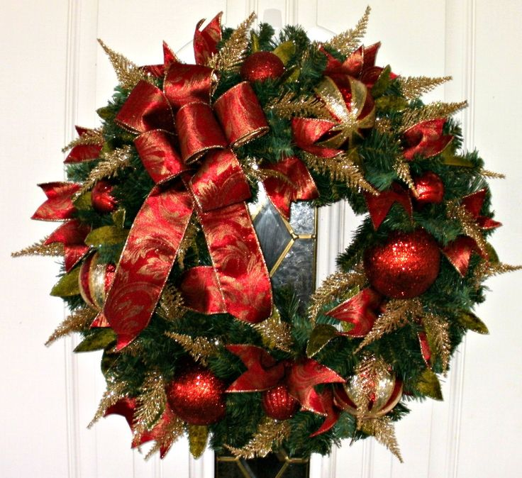 63 best Christmas Wreaths, Swags images on Pinterest
