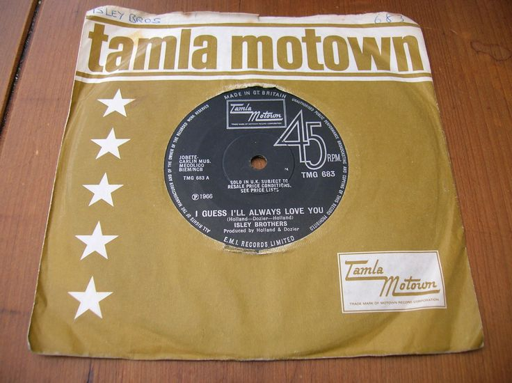 Isley Brothers - I Guess I'll Always Love You - Uk Tamla Motown Tmg 683 Ex